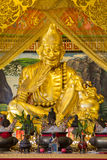 Golden Sculpture Chinese Gods in Chinese Temple at Phitsanulok, Royalty Free Stock Photo