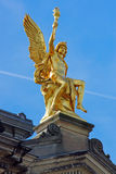 Golden sculpture in Dresden Royalty Free Stock Photo