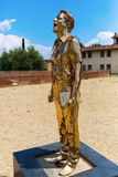 Golden sculpture at the Forte di Belvedere in Florence, Italy. Florence, Italy - July 06, 2016: golden sculpture at the Forte di Belvedere in Florence. It is a royalty free stock image