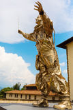 Golden sculpture at the Forte di Belvedere in Florence, Italy. Florence, Italy - July 06, 2016: golden sculpture at the Forte di Belvedere in Florence. It is a royalty free stock photos