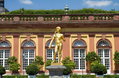 Golden Sculpture in the Orangery Stock Image