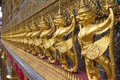 Golden sculptures in the Golden Palace in Bangkok Stock Images