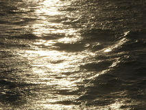 Golden Sea. Sea at sunset royalty free stock photography