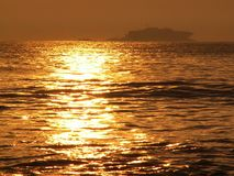 Golden sea stock image