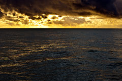 Golden sea Stock Photo