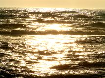 Golden sea Stock Photography