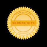 Golden Seal authentic Stock Photo