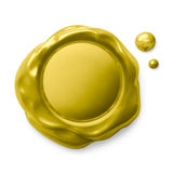Golden seal isolated on white Royalty Free Stock Photography