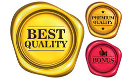 Golden Seal Royalty Free Stock Image