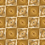 Golden Seamles Tiles Stock Photography
