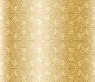 Golden seamless arabesque Stock Photography