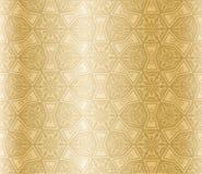 Golden Seamless Arabesque Stock Photography