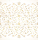Golden seamless border in Eastern style. Royalty Free Stock Photo