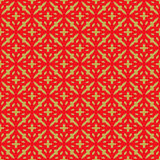 Golden seamless Chinese style cross geometry pattern background. Royalty Free Stock Photography