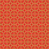 Golden seamless Chinese style lattice cross diamond geometry pattern background. Stock Photography
