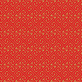 Golden seamless Chinese style spiral line geometry pattern background. vector illustration