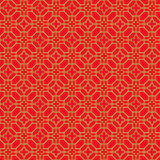 Golden seamless Chinese window tracery cross flower line pattern background. Stock Photos