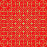 Golden seamless Chinese window tracery cross pattern background. Royalty Free Stock Image