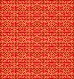 Golden seamless Chinese window tracery lattice diamond geometry line. Royalty Free Stock Photos