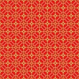 Golden seamless Chinese window tracery lattice polygon flower pattern. Royalty Free Stock Photos