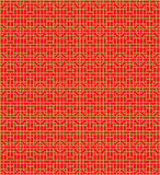 Golden seamless Chinese window tracery lattice round square pattern background. Royalty Free Stock Images