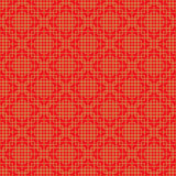 Golden seamless Chinese window tracery lattice square geometry line background. Royalty Free Stock Photo