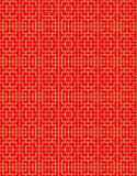 Golden seamless Chinese window tracery square diamond pattern background. Stock Photography
