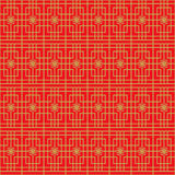 Golden seamless Chinese window tracery square flower pattern background. Stock Image