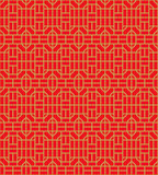 Golden seamless Chinese window tracery square geometry line pattern background. Stock Images