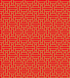 Golden seamless chinese window  tracery square line pattern bg Stock Photography