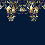 Golden seamless eastern lace pattern Royalty Free Stock Photo