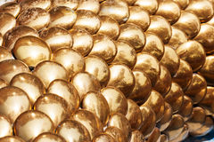 Golden seamless fish Stock Photography