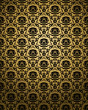 Golden_seamless _ornament Stock Photography