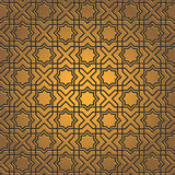 Golden seamless pattern Stock Photography