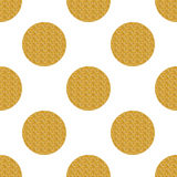 Golden seamless pattern with circles Stock Image