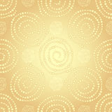 Golden seamless pattern Stock Photography