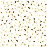 Golden seamless pattern with triangles Stock Images