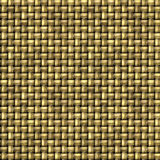 Golden seamless pattern of woven wicker Stock Images