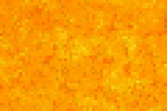 Golden seamless pixel background Stock Photo
