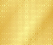 Golden seamless poker background with dark damask Stock Photography