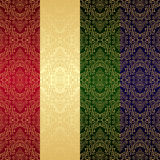Golden seamless retro wallpaper. Royalty Free Stock Photography