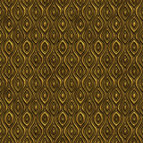 Golden seamless texture with a relief pattern Stock Photography