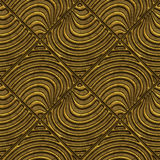 Golden seamless texture with a relief pattern Stock Image