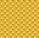 Golden seamless triangle pattern Royalty Free Stock Photo