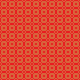 Golden seamless vintage Chinese window tracery square pattern background. Royalty Free Stock Photos