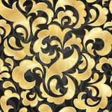 Golden seamless wallpaper Royalty Free Stock Images