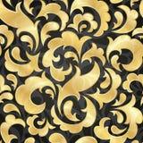 Golden seamless wallpaper royalty free illustration