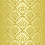 Golden seamless wallpaper. Stock Photography
