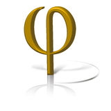Golden section symbol phi. stock images