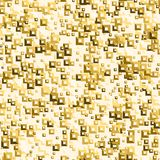 Golden sequins seamless pattern. Vector illustration. Eps 10 Stock Photo
